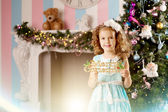 Little cute smiling сhristmas girl — Stockfoto