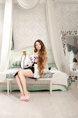 Luxury woman in fashion interior — Stock Photo