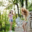 Beautiful young twins outdoors — Stock Photo #31005791