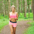Woman sports, running in the park — Stock Photo #31006449