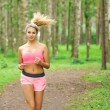 Woman sports, running in the park — Foto Stock