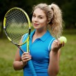 Sports woman playing tennis — Stock Photo