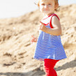 Stock Photo: Cute little baby girl on beach