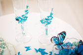 Wedding accessories, stemware — Stock Photo
