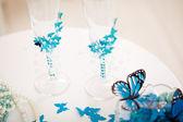 Wedding accessories, stemware — Stock Photo