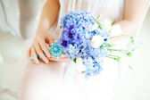Wedding accessories, bouquet flowers — Photo