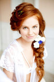 Beauty portrait of red-haired woman — Stock Photo