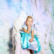 Little girl in princess dress on a background of a winter fairy — Stock Photo #51084427