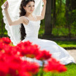 Bride with flowers — Stock Photo #51085597