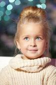 Winter little girl. Smiling  child. Cute kid. — Stock Photo