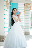 Bride with long hair  — Stock Photo
