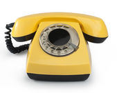 Old phone. Isolated with clipping path — Stock Photo