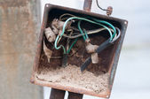 Demolished switchboard — Stock Photo