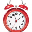 Stok Vektör: Alarm clock isolated on white. Vector illustration