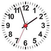 Clock face. Vector illustration — Stock Vector