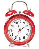 Alarm clock isolated on white. Vector illustration — Stock Vector