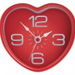 Stock Vector: Heart shaped clock isolated on white. Illustration