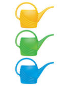 Watering Can. Set. Vector illustration — Stock Vector