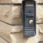 Door bell on brick wall — Stock Photo #51452053