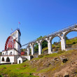 The Great Laxey Wheel - Isle of Man - Stock Photo