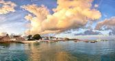 Panorama della città pietra sull'isola di zanzibar — Foto Stock