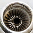 Jet Engine Turbine on a Private Jet Plane — Stock Photo
