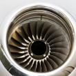 Jet Engine Turbine on a Private Jet Plane — Stock Photo