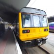 Stock Photo: Old Commuter Train with Motion Blur