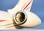 Jet Engine on a Private Plane - Bombardier — ストック写真