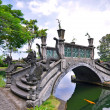 Bridge over lake at Tirtagangga Water Palace — Stock Photo