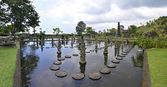 Panorama of Tirtagangga water palace on Bali — Stock Photo