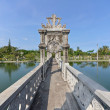 Bridge Arch Walkway in Taman Ujung Water Palace - Stock Photo