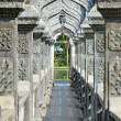 Arch Walkway in Tirtagangga Taman Ujung Water Palace - Stock Photo