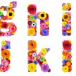 Floral Alphabet Isolated on White - Letters G, H, I, J, K, L — Stock Photo #31774033