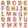 Full Floral Alphabet Isolated on White - Letters A to Z — Stock Photo #34617701