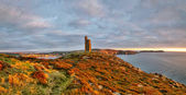 Panorama of South of the Isle of Man with Milner Tower — Stock Photo