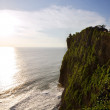 Uluwatu Temple on top of cliffs during Sunset — Stock Photo