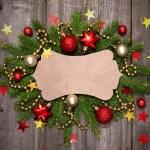 Christmas vintage card — Stock Photo