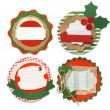 Stock Photo: Christmas vintage scrapbook