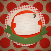 Christmas vintage scrapbook. — Stock Photo