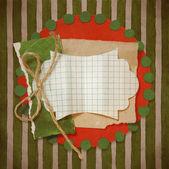 Christmas vintage scrapbook. — Stock Photo