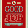 Stock Vector: Vintage card - Good job.