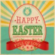Royalty-Free Stock Vector Image: Easter vintage card.