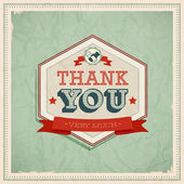 Vintage card - Thank You. — Stock Vector