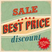Best price sale — Stock Vector