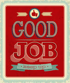 Vintage card - Good job. — Stock Vector