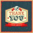 Stock Vector: Vintage card - Thank You.