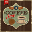Vintage card - coffe time. — Stock Vector