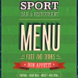 Sport Bar Menu. — Stock Vector