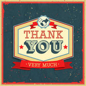 Vintage card - Thank You. — Stock Vector
